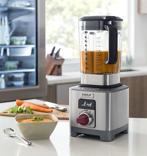 Thai Carrot Soup in the Wolf Gourmet Blender