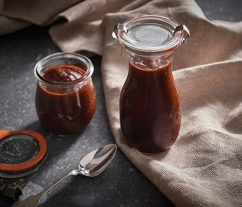 Wolf Gourmet barbecue sauce jars