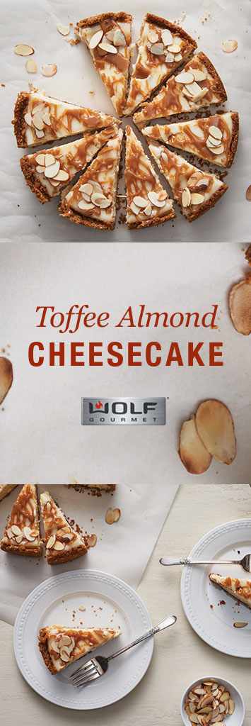 Toffee Almond Cheesecake | Wolf Gourmet blog