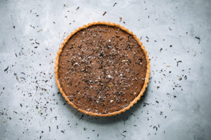 Smoked Salt &Earl Grey Chocolate Mousse withLavender-Mascarpone Whipped Cream
