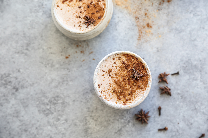 Creamy Chai Lattes with Maca